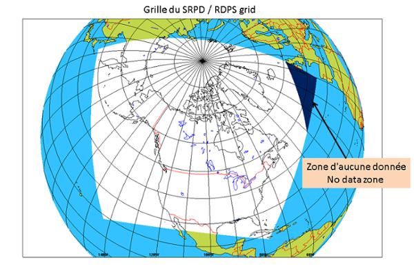 Image de la grille du Système régional de prévision déterministe